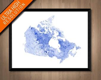 Waterways of Canada map art | Printable Canada map print, Canada print, Canada poster, Canada art map, Canada wall art, Canada gift idea