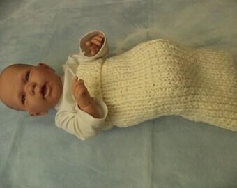 Cocoon puck bag premature babies premature babies knitted Merino Wool