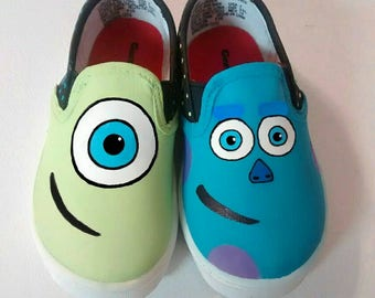 Monster Inc Inspired special occasion hand-painted Shoes