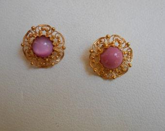 Vintage flower earings