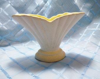 "Vintage ""Raynham"" Medium Textured Fan-Shaped Vase"