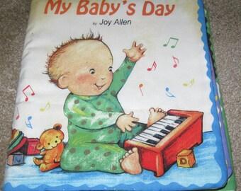 "Fabric Child's Book- ""My Baby's Day"""