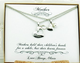 Mother gift Mother birthday gift Mother's day gift Personalized mom New mom Mother daughter necklace Generation Gifts for Mom Mother jewelry