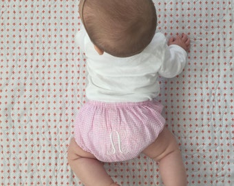 Gingham Monogrammed Baby Bloomers // Personalized Bloomers // Baby Bloomer // Baby Shower Gift // Newborn Shoot // Newborn Outfit // Baby //