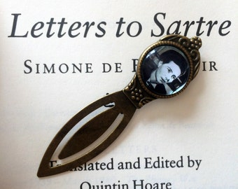 Simone De Beauvoir Bookmark - Feminist Bookmark, Philosophy Gift, The Second Sex Bookmark, Vintage Feminism Gift, Women's Movement Bookmark