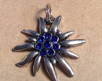 Necklace Edelweiss blue