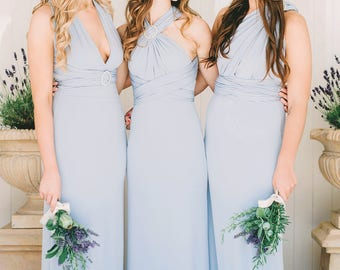 Long Pearl Multiway Dress - Willow & Pearl Designer / Bridesmaids / Prom / Evening / Special Occasion / Maxi