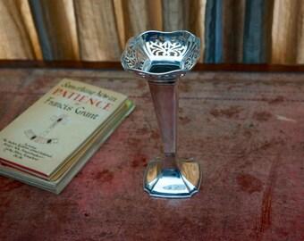 Silver Trumpet Specimen Vase by Robert Fead Mosley & Co Sheffield 1910