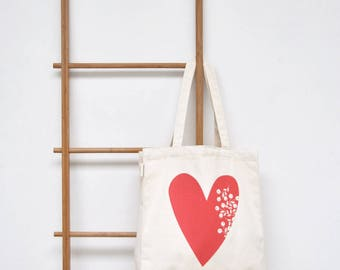 Shopping bag in organic cotton - ho the liar, she's in love