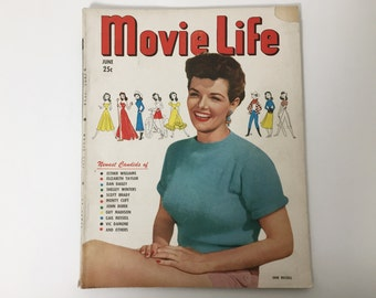 Movie Life Magazine June 1950 - Cover Jane Russell - Vintage Movie Magazine - Inside Ava Gardner & Montgomery Clift