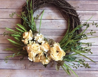 Beautiful country-living wreath!!