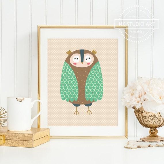 Owl Nursery Decor Owl Nursery Art Owl Nursery Wall Decor