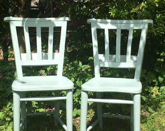 Vintage Painted Church Chairs
