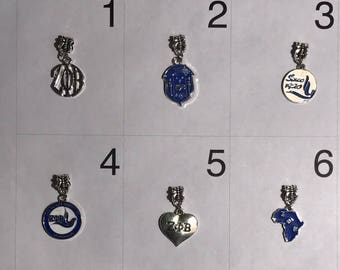 Zeta Phi Beta Bracelet Charms 6 To Choose From