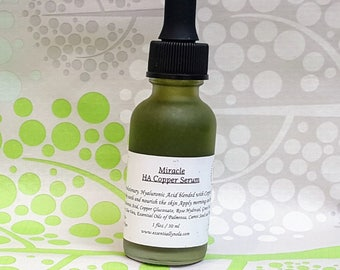 Miracle HA Serum - Hyaluronic Acid and Copper Peptides - 1 floz