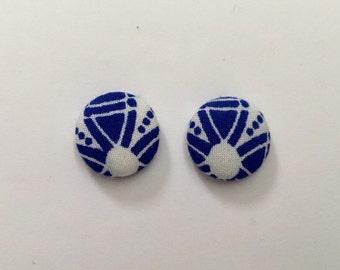 15mm Blue Moon Fabric Studs