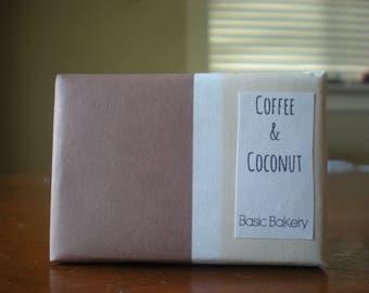 soap, coffee and coconut, handmade soap, homemade soap