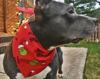 Merry Grinchmas Holiday Pet Bandana