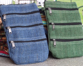 Student Handmade Hemp Shoulder Bag - Festival Bag - FREE SHIPPING - Himalayan Limited Supply
