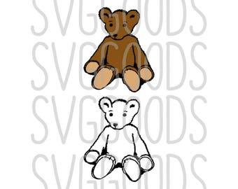 Teddy Bear svg, Bear svg, Teddy svg, Bear Toy svg, Teddybear svg, baby svg, toy svg, stuffed toy SVG, cut file, vector, svg file