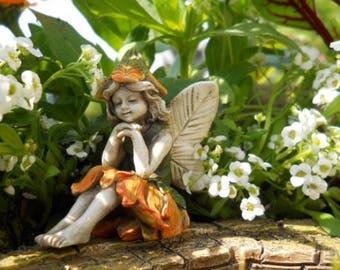 Miniature Sunshine Fairies, Miniature Fairy Figurine, Fairy Statue  Miniature Gardens, Home Decor,