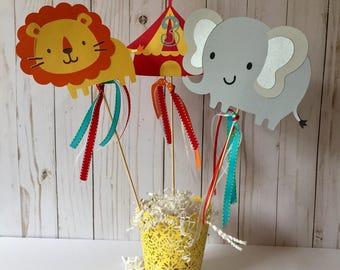Carnival centerpieces-circus-big top centerpieces-carnival party-circus party- circus decorations-carnival party-birthday party centerpieces