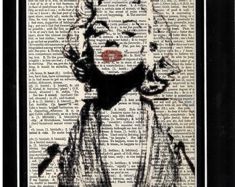 Mariyln Monroe vintage dictionary paper art print 265