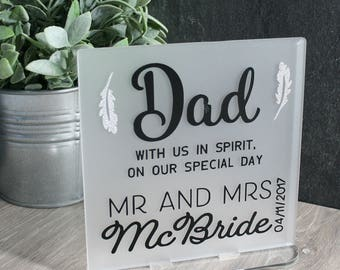 Wedding sign, lost loved one, wedding plaque, wedding day gift ...