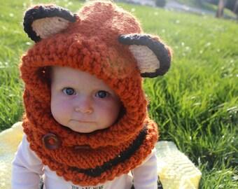Knit Fox Hood