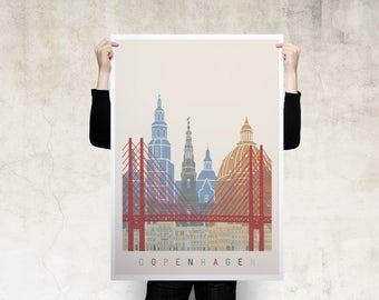 Copenhagen Travel Poster