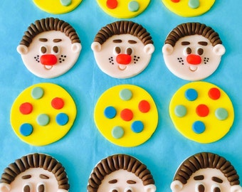 Mr Tumble #1 Cupcake Toppers