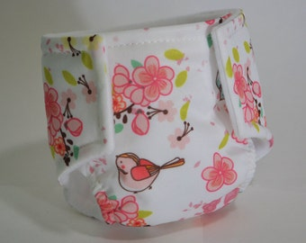 Waterproof Doll Diaper - Birds