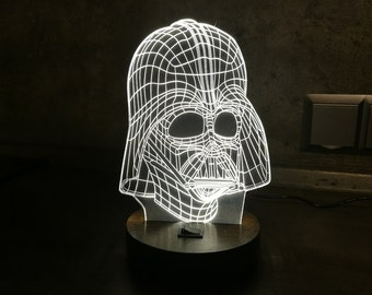 Table Lamp, Gift for Men, 3D Night Light, Valentines Day Gift for Him, Desk Lamp, Acrylic, LED Night Light, Star Wars,Personalized LED Lamps