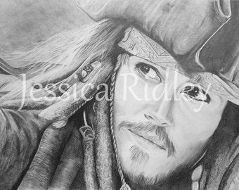 ORIGINAL Jack Sparrow Pencil Sketch