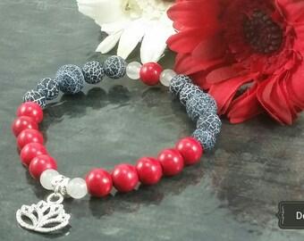 Mala bracelet Red Lotus