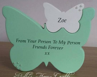 Personalised Freestanding Butterfly within a Butterfly
