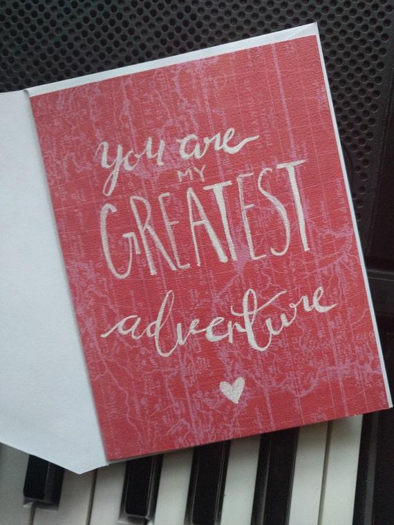 Greatest Adventure Love Card Blank Inside
