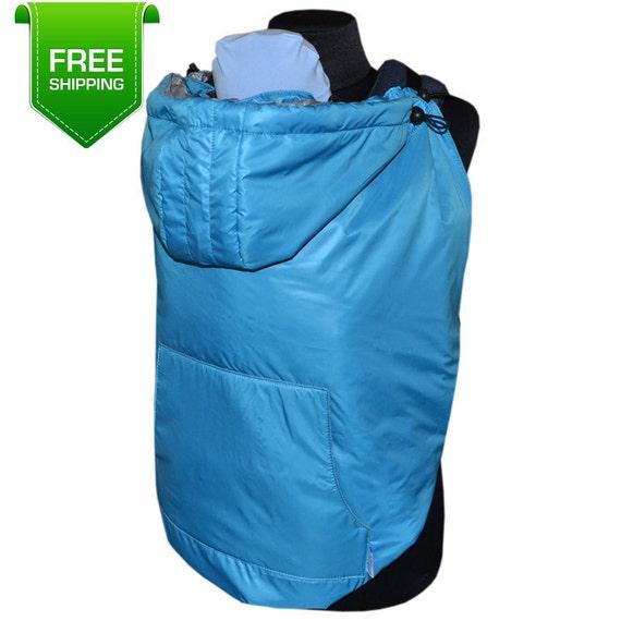 Winter Maternity Coat Extender Blue Babywearing Coat