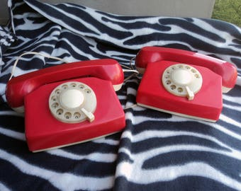 Vintage phone toy Toy telephone Collectible phone Rotary phone Dial phone Rotary Dial Telephone Pretend phone Old toy phone Gift for kids