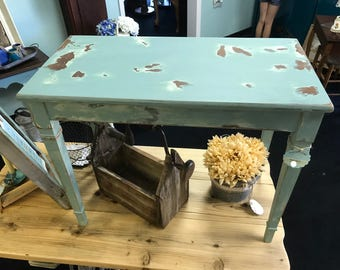 SOLD!! Shabby Chic Vintage Piano Bench