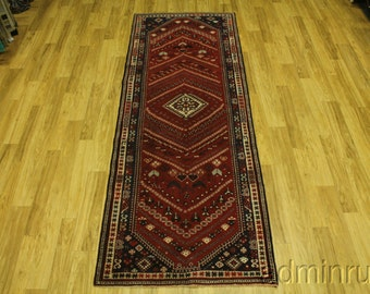 Rare Hallway Tribal Shiraz Runner Persian Oriental Area Rug Carpet Sale 4X10