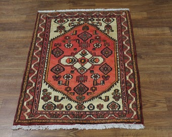 4X5 Beautiful Foyer Handmade Hamedan Persian Rug Oriental Area Carpet 3'6X4'9