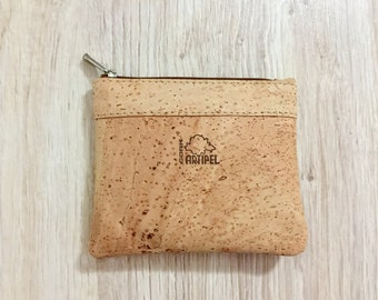 Natural cork coin purse, Cork-leather, eco-friendly bag, gift for her, gift idea