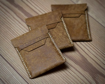 Leather Business Card Wallet, Leather Card Holder Wallet, Mens Wallet, ladies Wallet, Small Wallet, Slim Leather Wallet