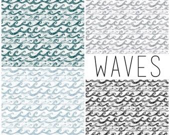 Baby Swaddle, Crib Sheet   Waves Crib Sheet, Waves Baby Swaddle, Nautical, Ocean, Beach, Waves, Nautical Nursery, Nautical Baby Bedding