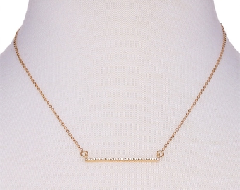 Crystal Bar Choker Necklace