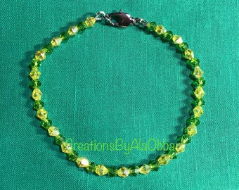 Orula Inspired Bracelet Made with Swarovski Crystals 8""
