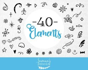 Illustrator elements, swashes, decorative svg, svg file bundle, invitation svg, svg swirls, scroll svg, photoshop elements, design elements
