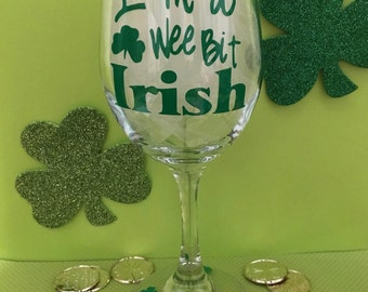 St Patrick's Day Wine Glass 20 oz