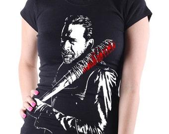AMC's The Walking Dead: Negan (Lucille) TV Show Women's Black T Shirt